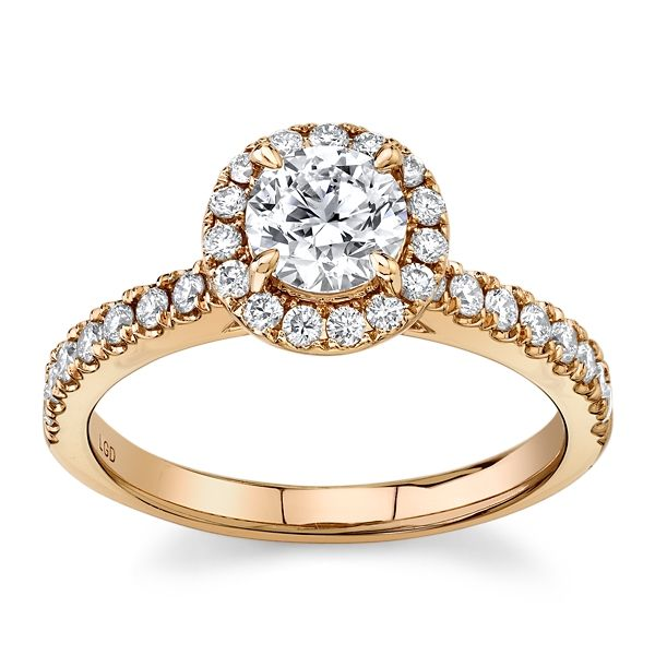 Eternalle Lab-Grown 14k Rose Gold Diamond Engagement Ring 1 ct. tw.