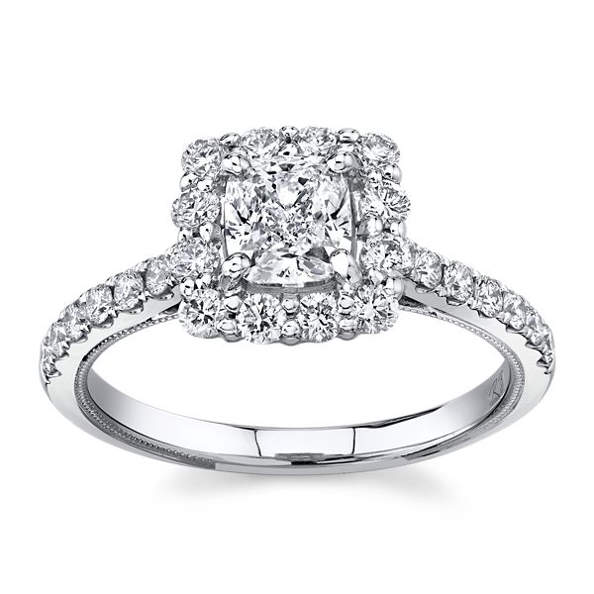 Poem 14k White Gold Diamond Engagement Ring 1 1/3 ct. tw.