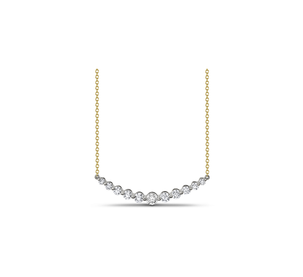 Memoire 18k White Gold and 18k Yellow Gold Necklace 1 ct. tw.