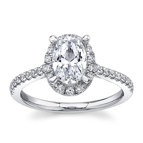 Gabriel & Co. 14k White Gold Diamond Engagement Ring Setting 1/3 ct. tw.
