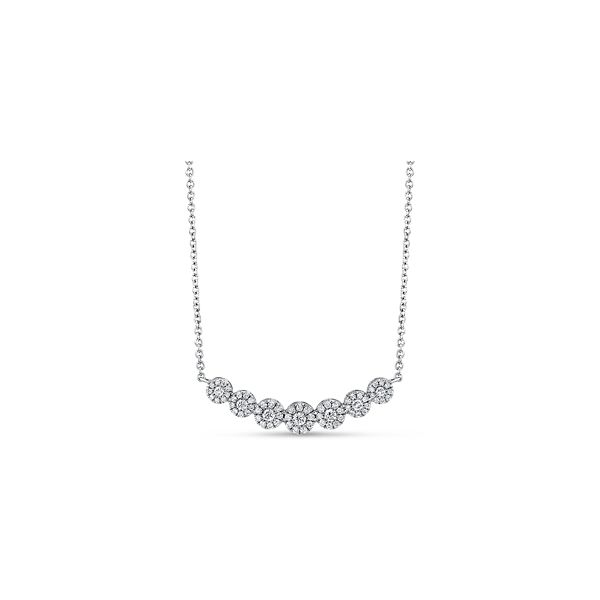 14k White Gold Necklace 1/2 ct. tw.