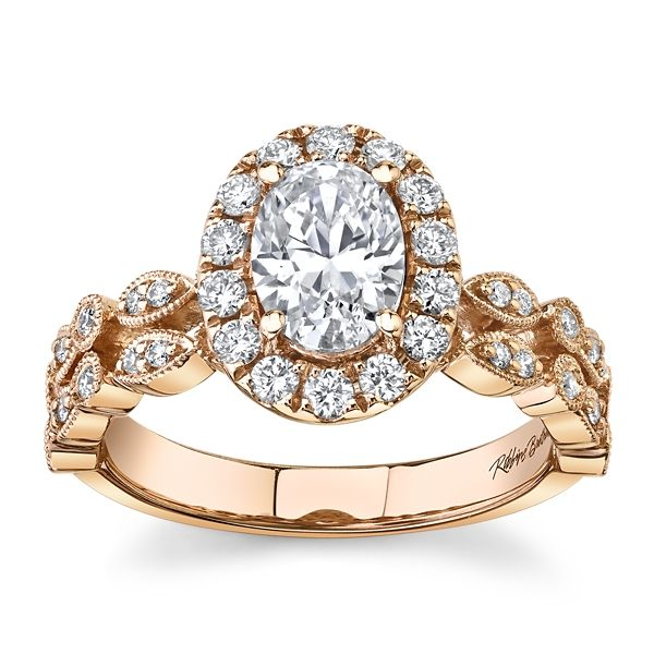 RB Signature 14k Rose Gold Diamond Engagement Ring Setting 3/8 ct. tw.