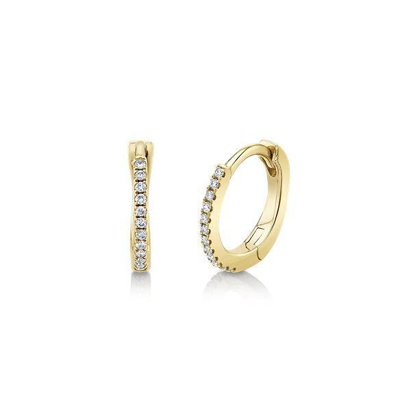 14k Yellow Gold Earrings .06 ct. tw.