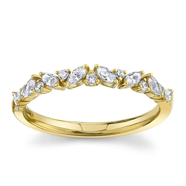 14k Yellow Gold Diamond Wedding Band 1/3 ct. tw.