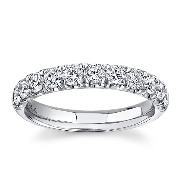 Gabriel & Co. 14k White Gold Diamond Wedding Band 7/8 ct. tw.