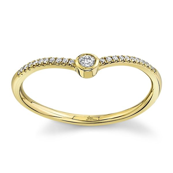 Shy Creation 14k Yellow Gold Diamond Wedding Ring .07 ct. tw.