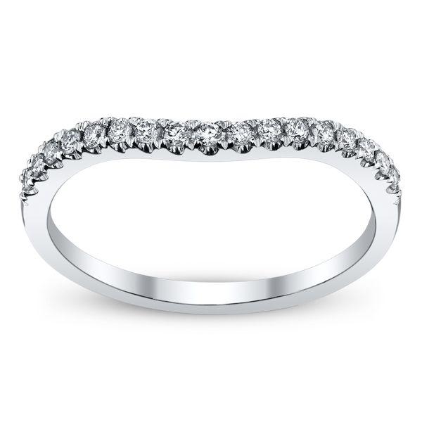 Ladies 14k White Gold Diamond Wedding Band