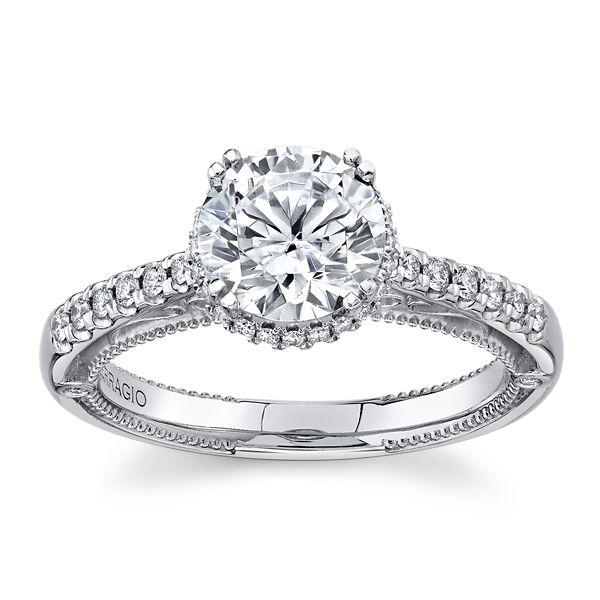 Verragio 18k White Gold Diamond Engagement Ring Setting 1/4 ct. tw.