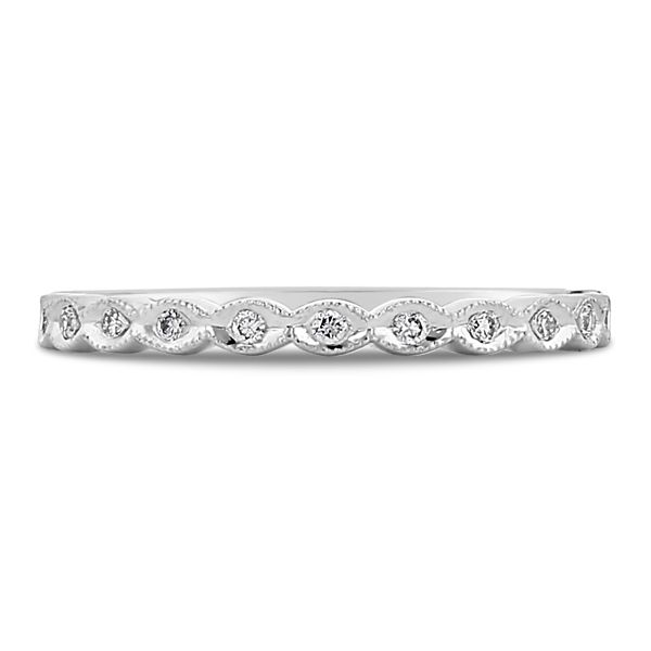 Coast Diamond 14k White Gold Diamond Wedding Band .08 ct. tw.
