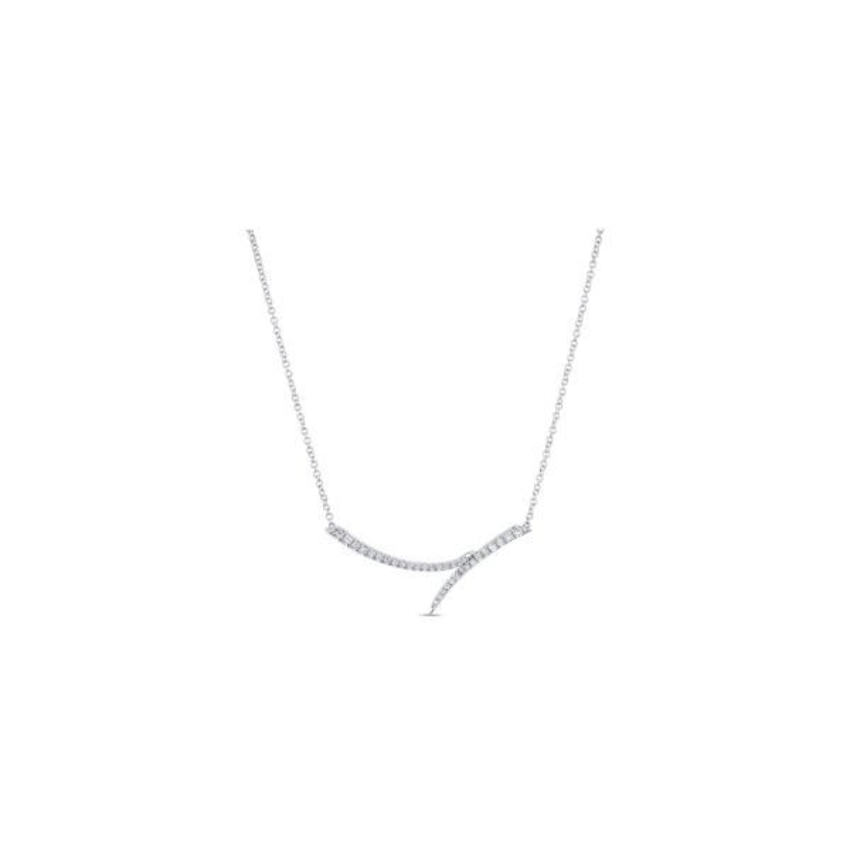 Gabriel & Co. 14k White Gold Necklace 1/5 ct. tw.