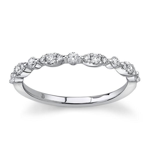 14k White Gold Diamond Wedding Band 1/4 ct. tw.