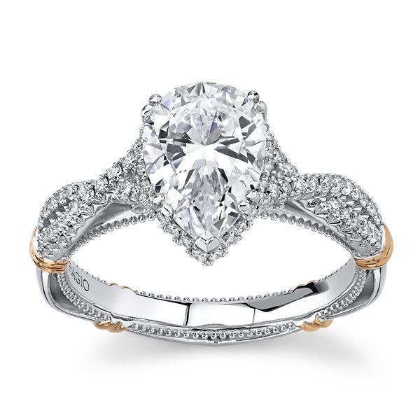 Verragio 14k White Gold & 14k Rose Gold Diamond Engagement Ring Setting 1/3 ct. tw.