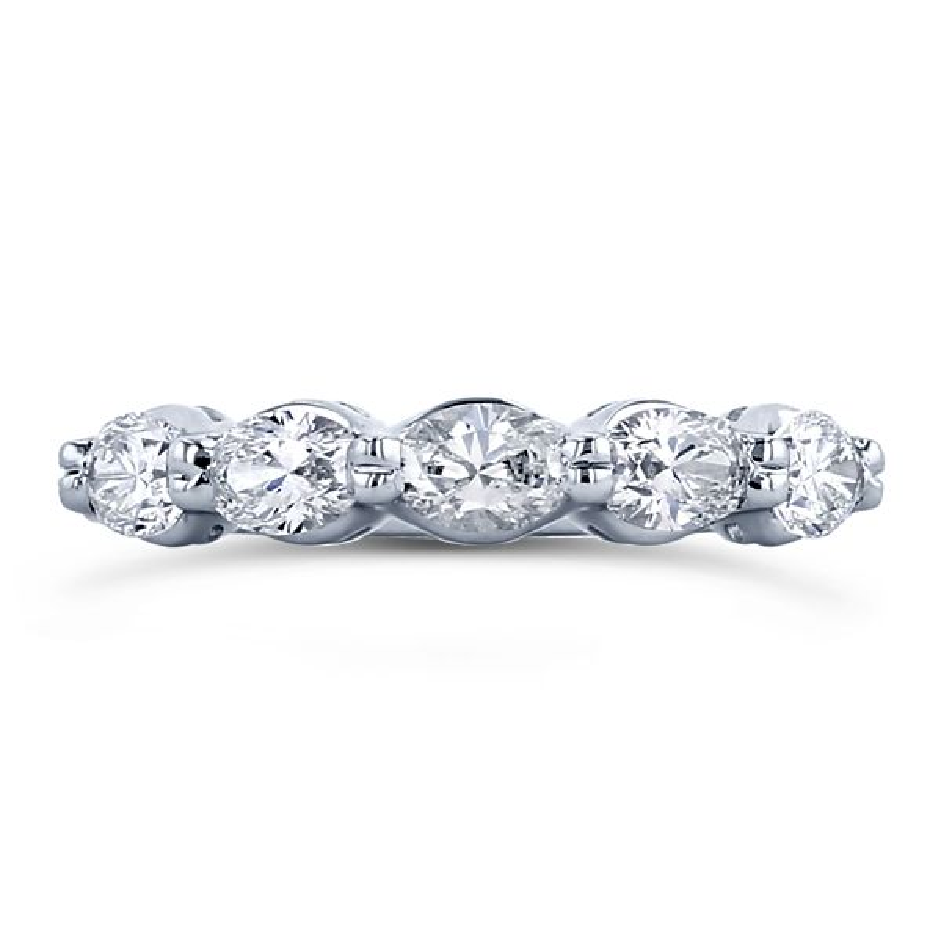 Poem 14k White Gold Diamond Wedding Band 1 ct. tw.
