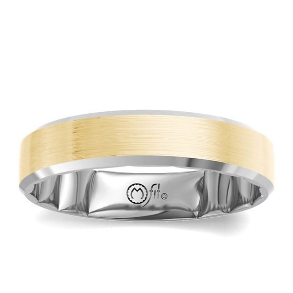 MFit 14k White Gold and 14k Yellow Gold 6 mm Wedding Band