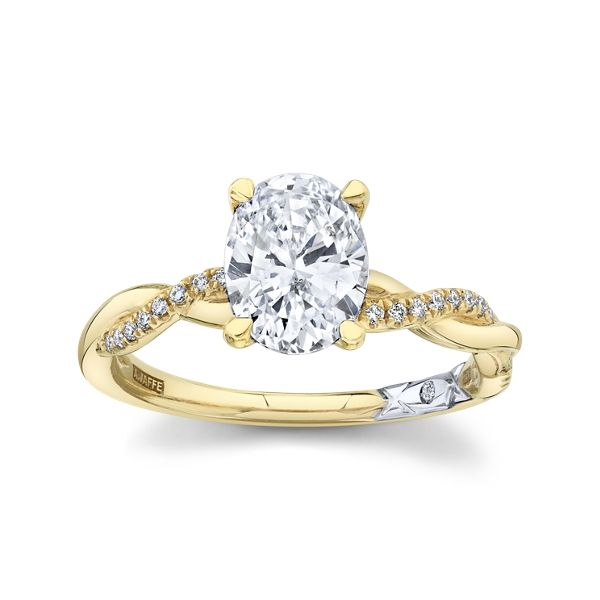 A. Jaffe 14k Yellow Gold and 14k White Diamond Engagement Ring Setting 1/10 ct. tw.