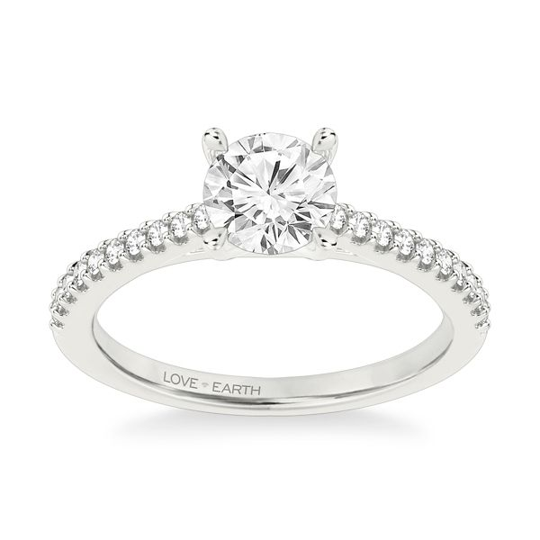 Love Earth 14k White Gold Diamond Engagement Ring Setting 1/5 ct. tw.