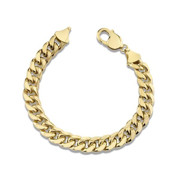 14k Yellow Gold 9.3mm Miami Cuban Link Chain Bracelet