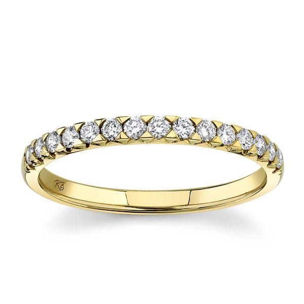 14k Yellow Gold Diamond Wedding Band 1/4 ct. tw.