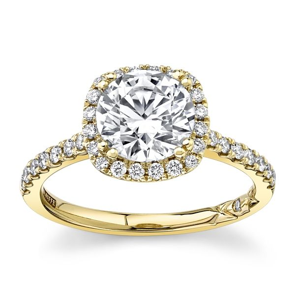A. Jaffe 14k Yellow Gold Diamond Engagement Ring Setting 1/3 ct. tw.