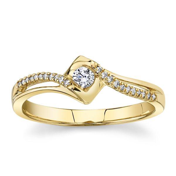 Cherish 10k Yellow Gold Promise Ring 1/8 ct. tw.