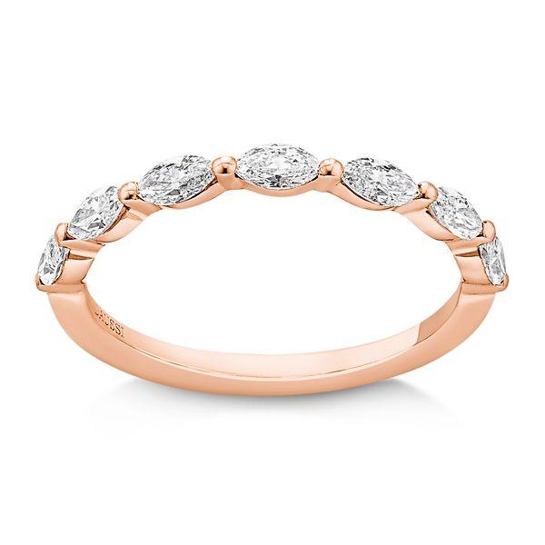 Henri Daussi 14k Rose Gold Diamond Wedding Band 1/2 ct. tw.