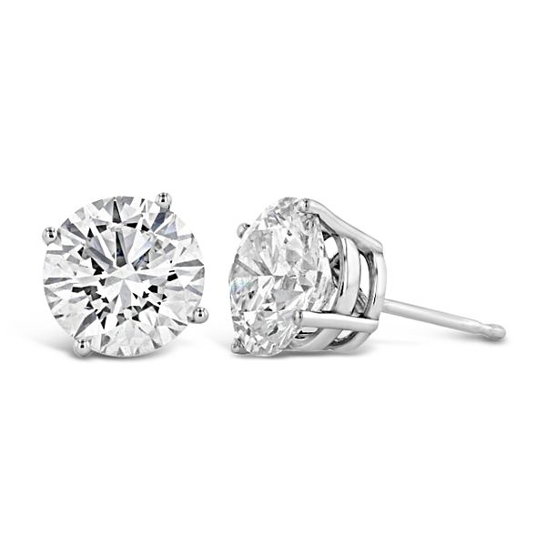 Eternalle Lab-Grown 14k White Gold Solitaire Earrings 4 ct. tw.