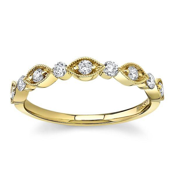 Henri Daussi 18k Yellow Gold Diamond Wedding Band 1/3 ct. tw.