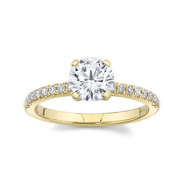 Coast Diamond 14k Yellow Gold Diamond Engagement Ring Setting 1/6 ct. tw.