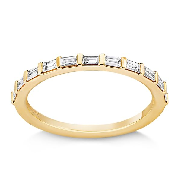 Henri Daussi 14k Yellow Gold Diamond Wedding Band 1/3 ct. tw.