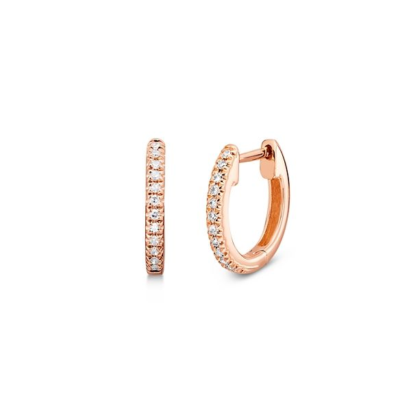 Shy Creation 14k Rose Gold Earrings 0.05 ct. tw.