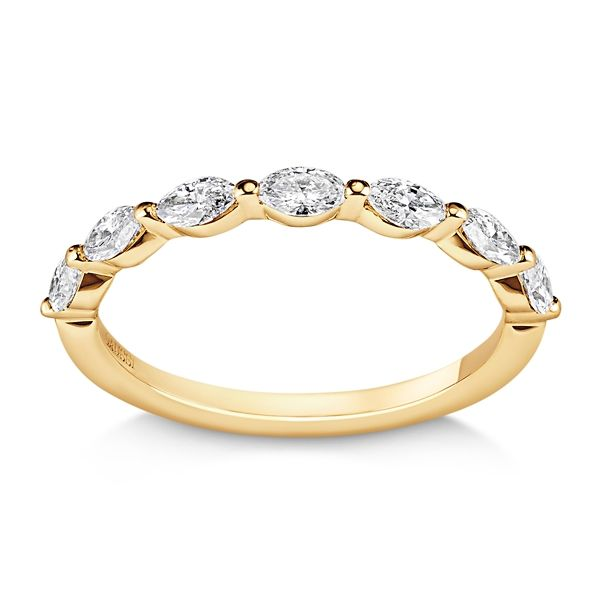 Henri Daussi 14k Yellow Gold Diamond Wedding Band 1/2 ct. tw.