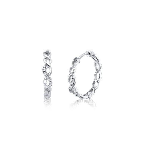 14k White Gold Earrings .08 ct. tw.