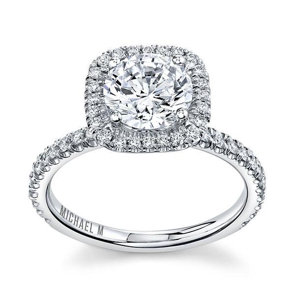 Michael M. 18k White Gold Diamond Engagement Ring Setting 1/2 ct. tw.