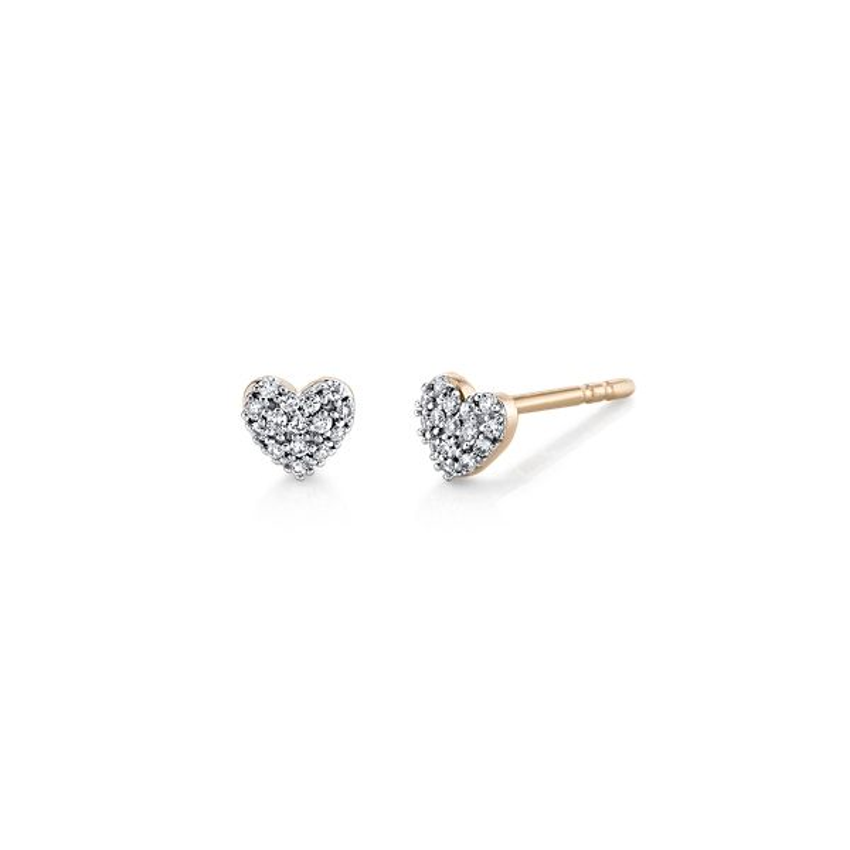 14k Rose Gold Heart Earrings 1/10 ct. tw.