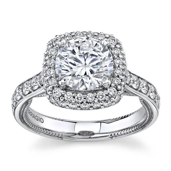 Verragio 18k White Gold Diamond Engagement Ring Setting 7/8 ct. tw.
