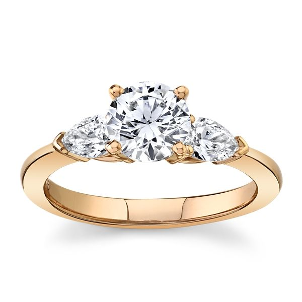 Suns and Roses 14k Rose Gold Diamond Engagement Ring Setting 1/2 ct. tw.