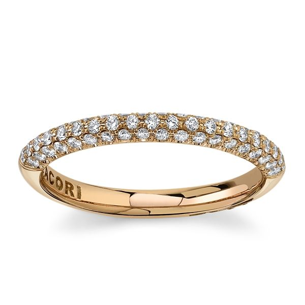 Tacori 18k Rose Gold Diamond Wedding Band 3/8 ct. tw.