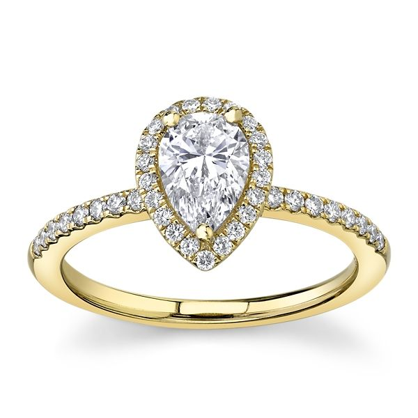 Poem 14k Yellow Gold Diamond Engagement Ring 1 ct. tw.