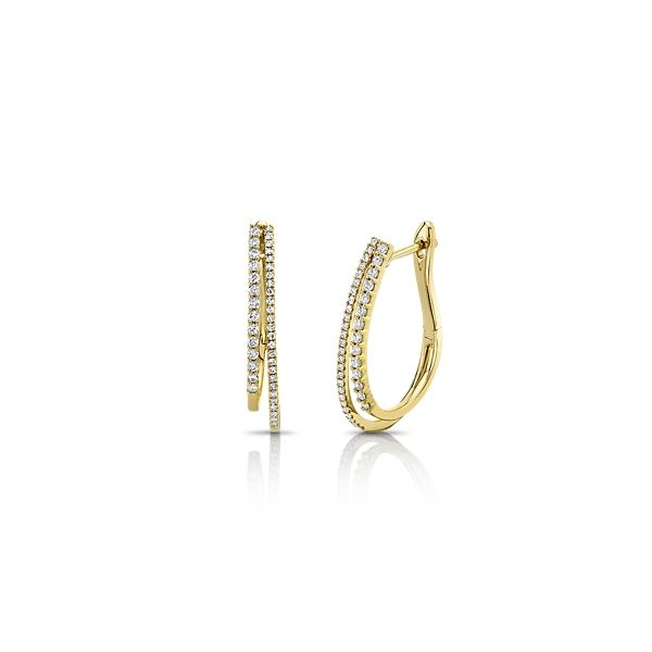 Shy Creation 14k Yellow Gold Earrings 3/8 ct. tw.