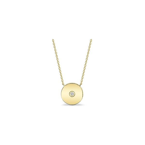 Shy Creation 14k Yellow Gold Necklace 0.02 ct. tw.
