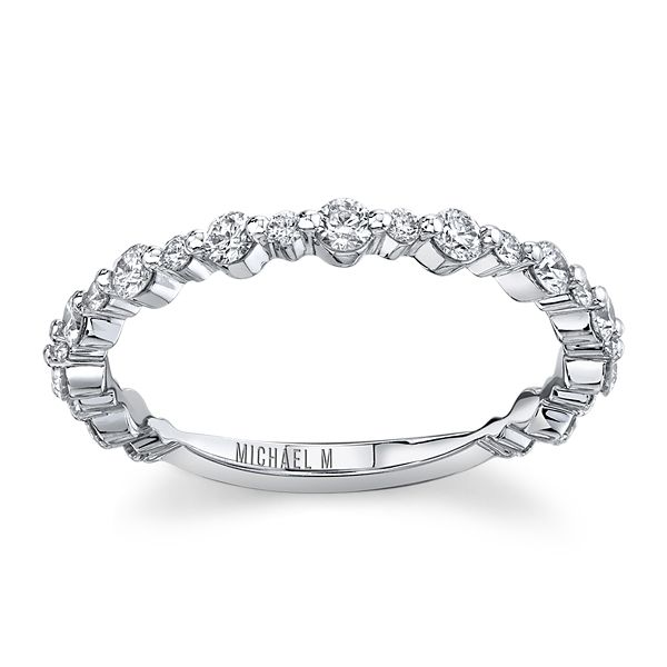 Michael M. 18k White Gold Diamond Wedding Band 1/2 ct. tw.