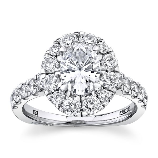A. Jaffe 14k White Gold Diamond Engagement Ring Setting 1 1/4 ct. tw.
