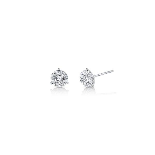 Memoire 18k White Gold Earrings 5/8 ct. tw.