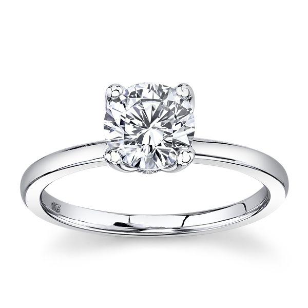 Gem Quest Bridal 14k White Gold Diamond Engagement Ring Setting .05 ct. tw.