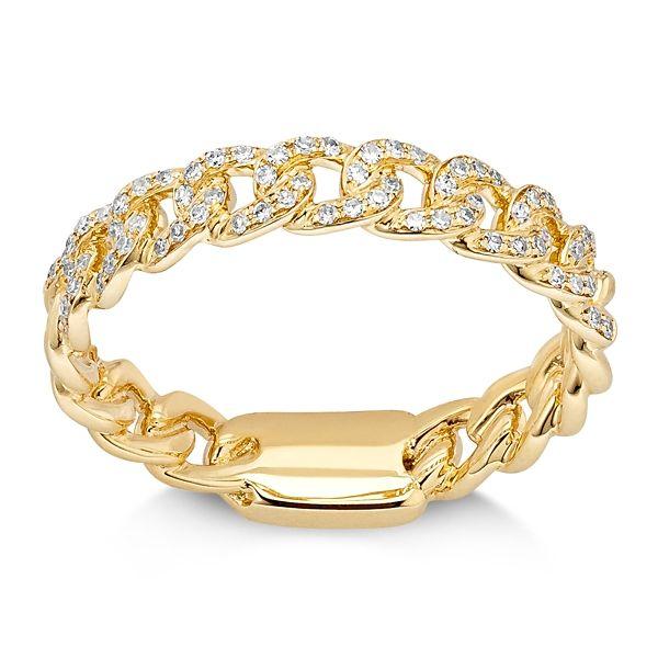 Shy Creation 14k Yellow Gold Diamond Wedding Band 1/6 ct. tw.