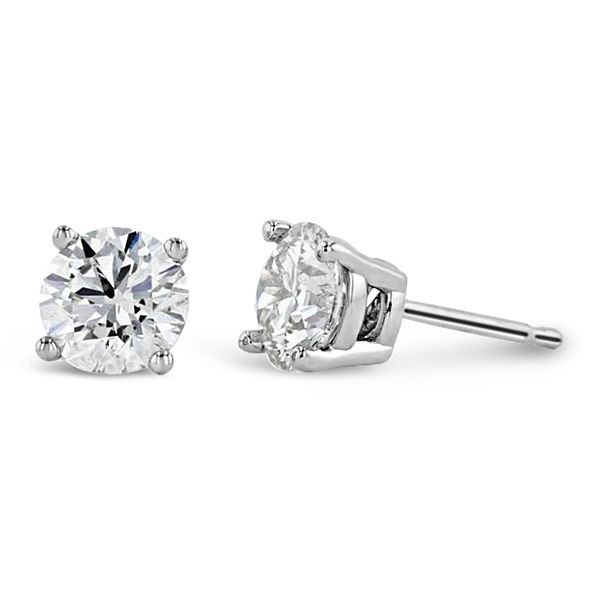 Eternalle Lab-Grown 14k White Gold Solitaire Earrings 2 ct. tw.