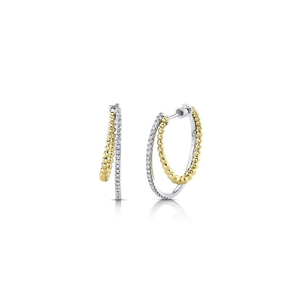 Gabriel & Co. 14k Yellow Gold and 14k White Earrings 1/2 ct. tw.