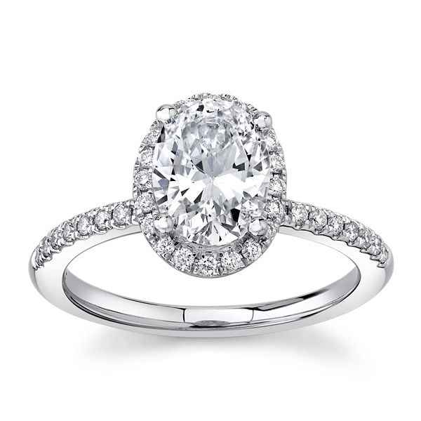 RB Signature 14k White Gold Diamond Engagement Ring 1/4 ct. tw.