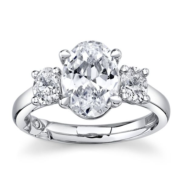 A. Jaffe 14k White Gold Diamond Engagement Ring Setting 5/8 ct. tw.