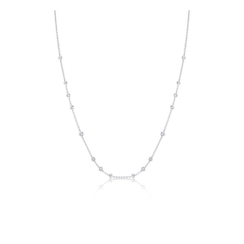 Memoire 18k White Gold Necklace 3/4 ct. tw.